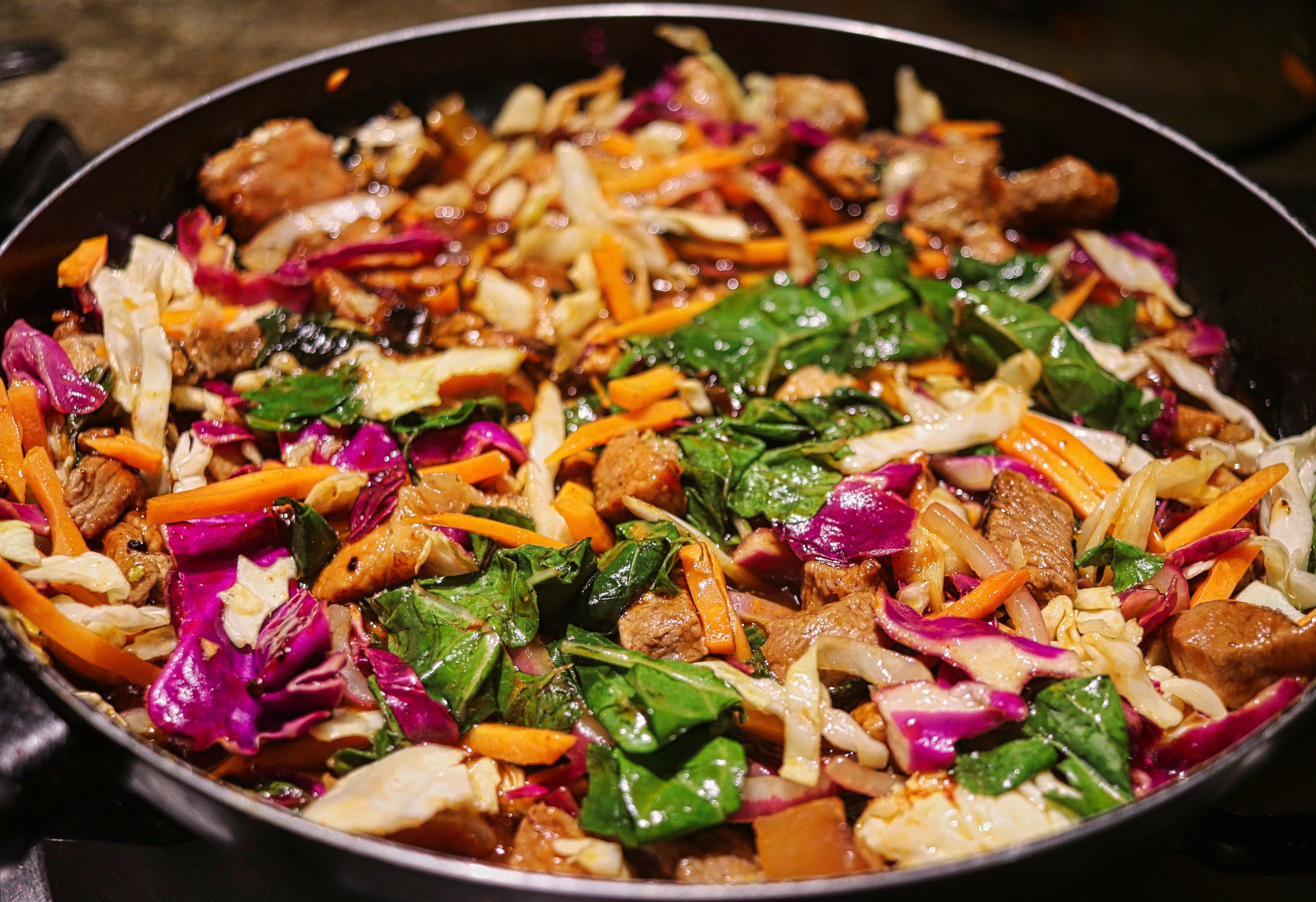 Broccoli, Bok Choy, & Eggplant Stir Fry