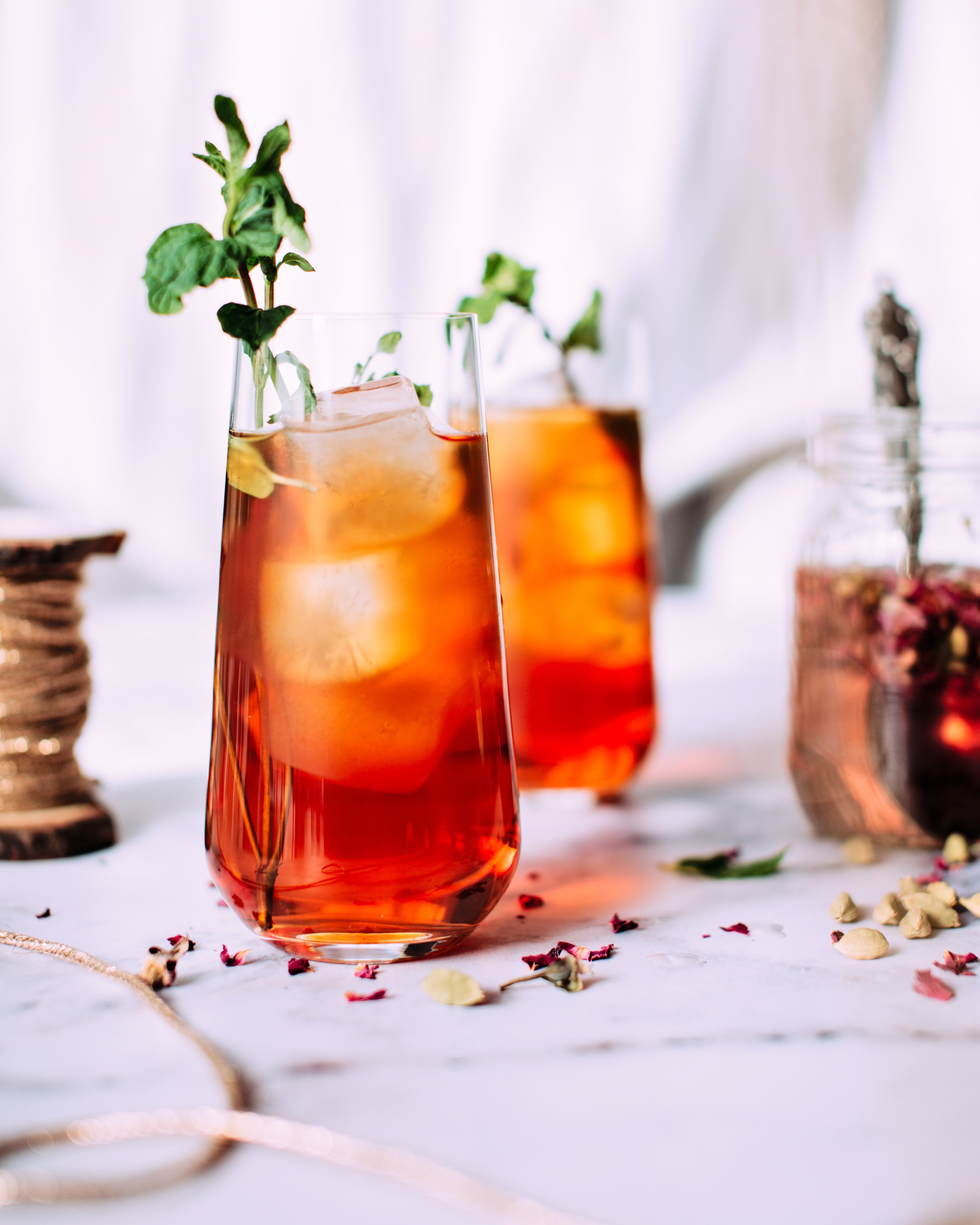 Cold Brew Plum Iced Tea