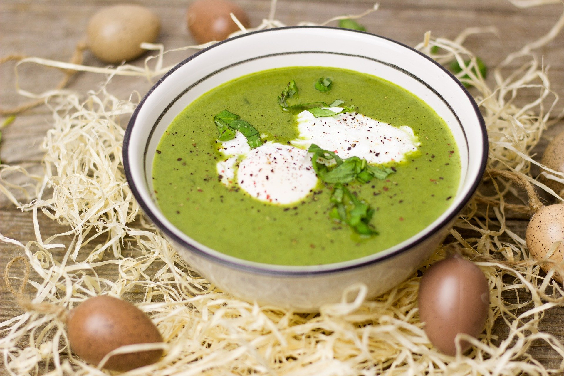 Zucchini, Mint, & Pistachio Soup