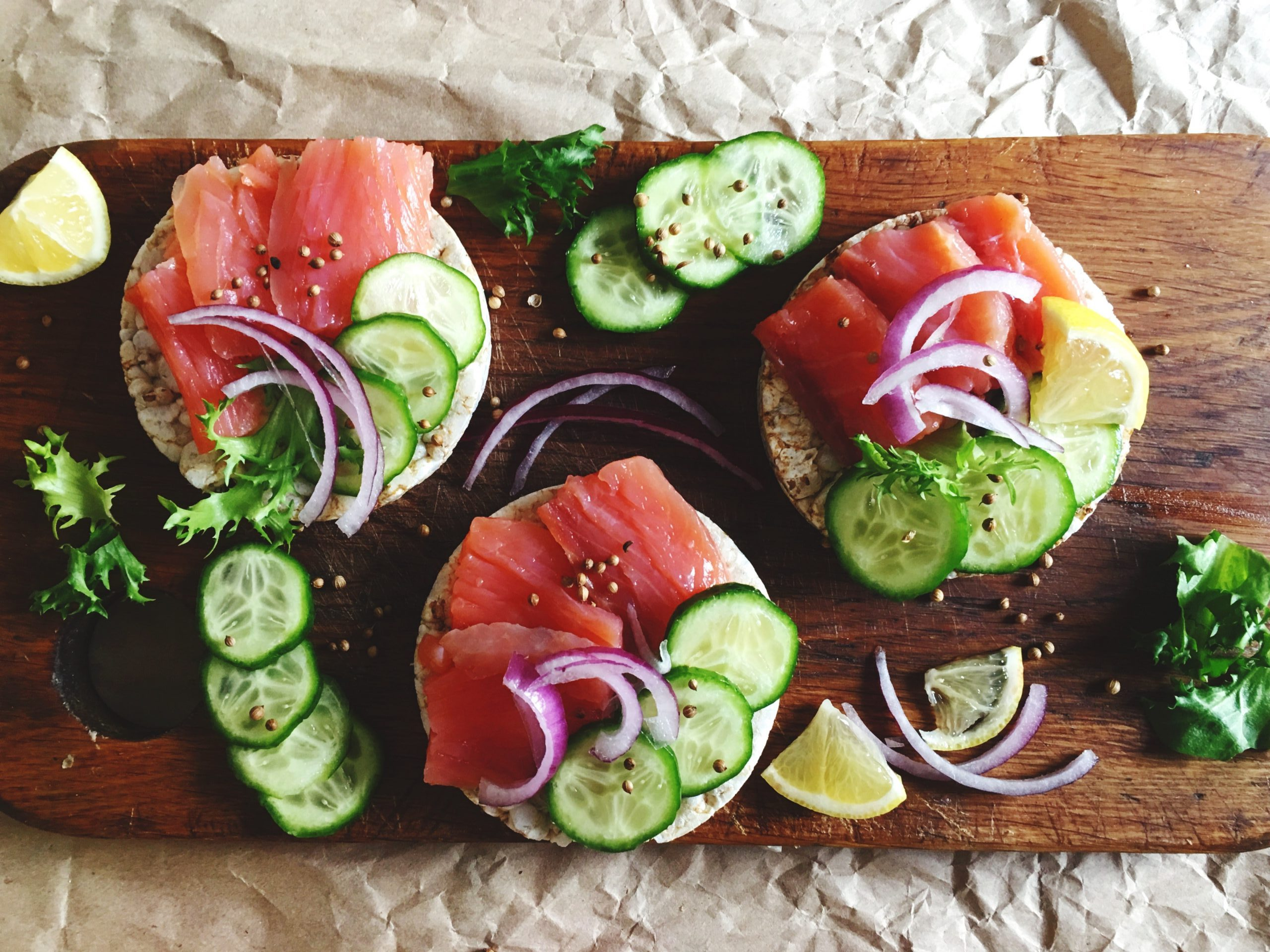 Lox 'n Bagel Sandwich with Cucumber, Dill, and Capers